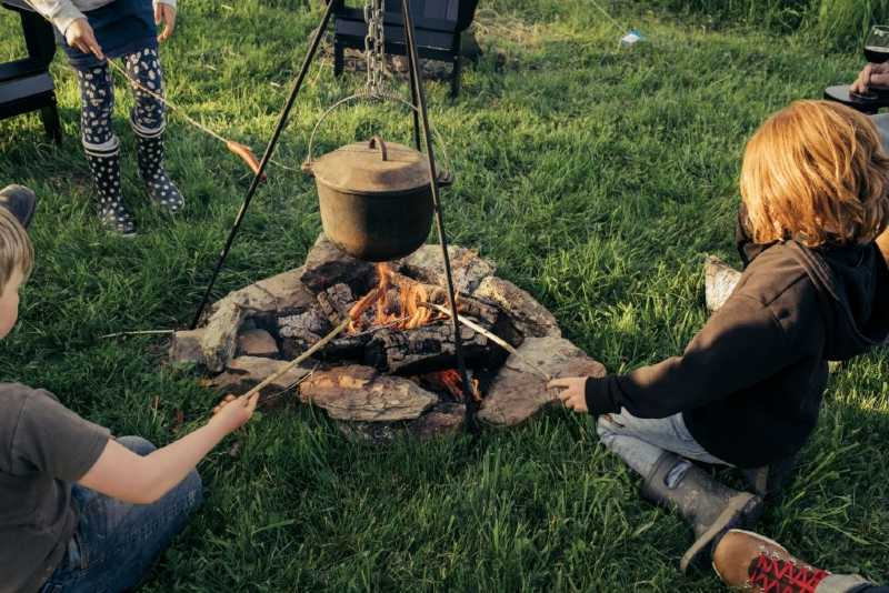Wrought iron campfire cooking equipment